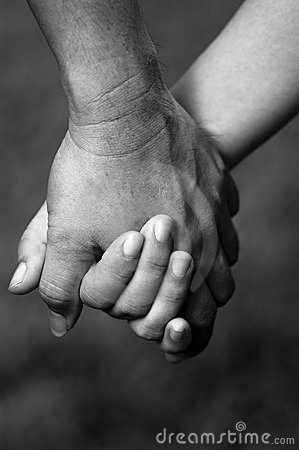 Free B&W Of Hand In Hand Stock Photography - 268592