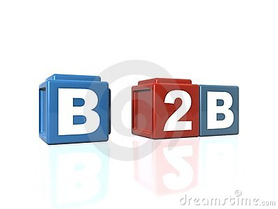 B2B Business-to-Business in building blocks