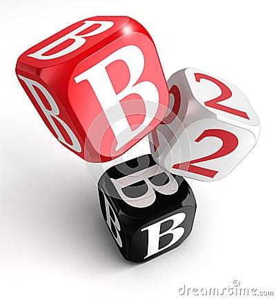 B2b red white black blocks
