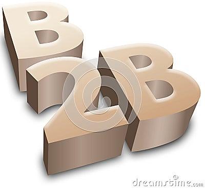 B2B symbol e-business business