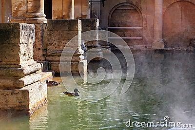 Baños romanos en el baño, Inglaterra