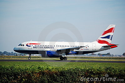 BA Airbus Editorial Stock Photo