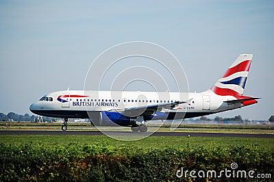 BA Airbus Editorial Stock Photo
