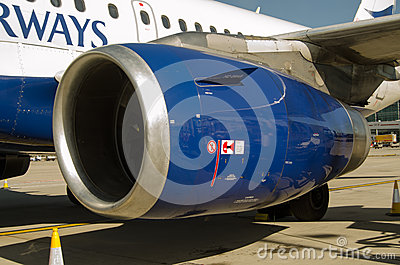 BA Airbus A319 Engine cowl Editorial Photo