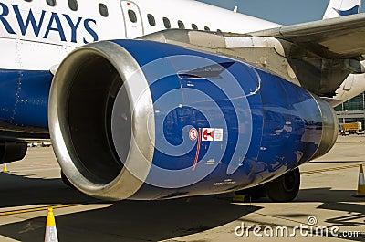 BA Airbus A319 Engine cowl Editorial Photo