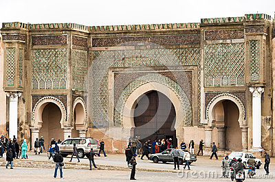 Bab el-Mansour Gate Meknes, Morocco Editorial Photography