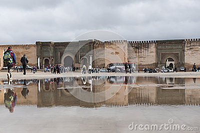 Bab el-Mansour Gate Meknes, Morocco Editorial Stock Photo