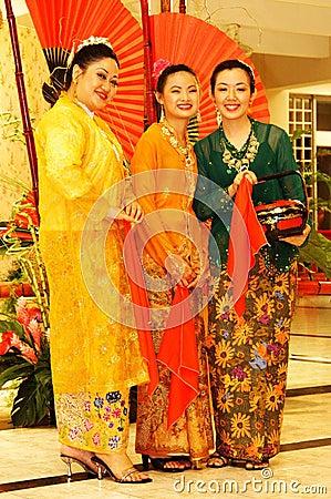 Baba nyonya costumes Editorial Image