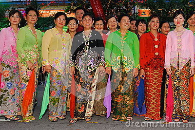 Baba Nyonya costumes Editorial Stock Photo