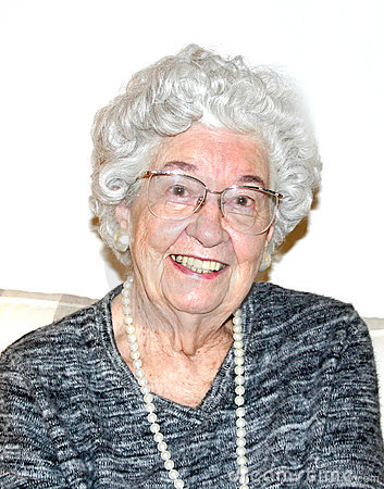 Babcia się uśmiecha