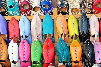 Babouches typical moroccan shoes
