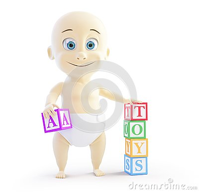 Baby 3d alphabet blocks