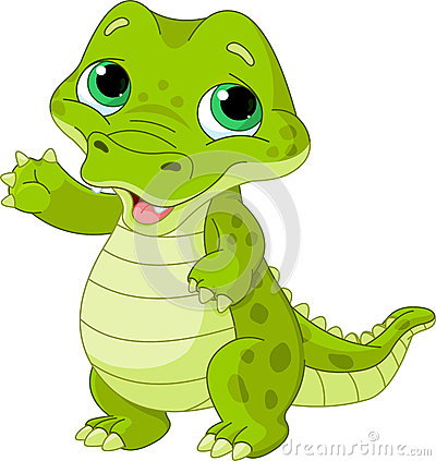 Baby alligator Vector Illustration