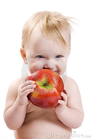 Free Baby And Apple Royalty Free Stock Images - 4899199