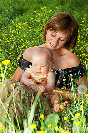 Free BABY AND MOTHER Stock Images - 1279124