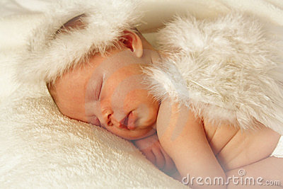 Newborn Identical Twins Baby Angel Royalty Fre...