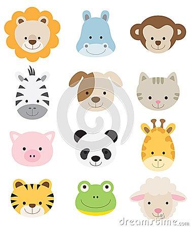 Free Baby Animal Faces Stock Photo - 21097160