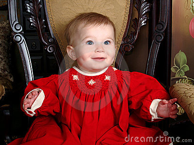 Baby on Antique Chair