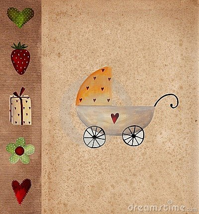 Baby arrival announcement card