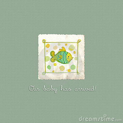 Free Baby Arrival Card Royalty Free Stock Image - 21900476