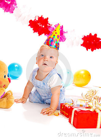 Free Baby At The Birthday Party Royalty Free Stock Images - 10599529