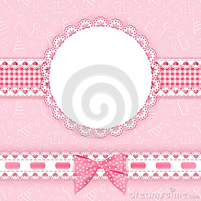 Free Baby Background With Frame. Royalty Free Stock Images - 35249439