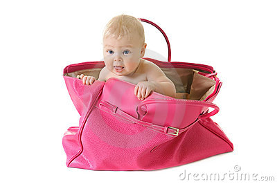 baby in a bag stock photos image 18235343