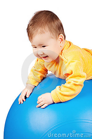 Baby on ball