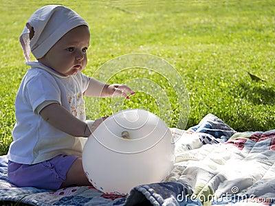 Baby with ballon