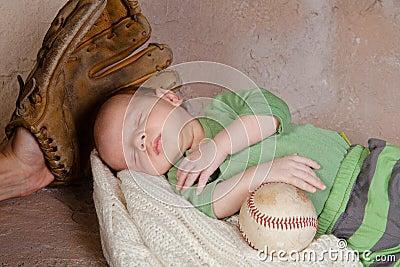 Baby with baseball