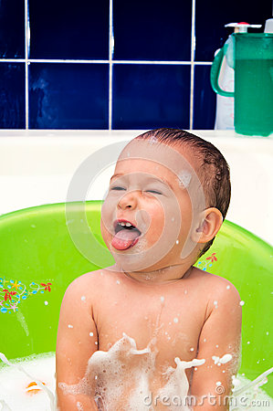 Baby in baththub