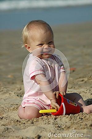 Baby beach play