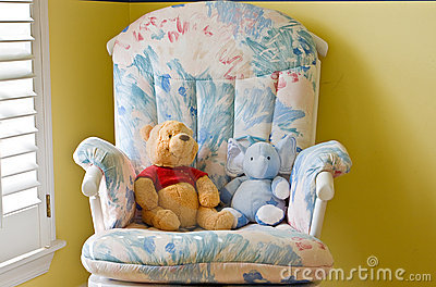 baby bedroom with toys stock photography image 12359232