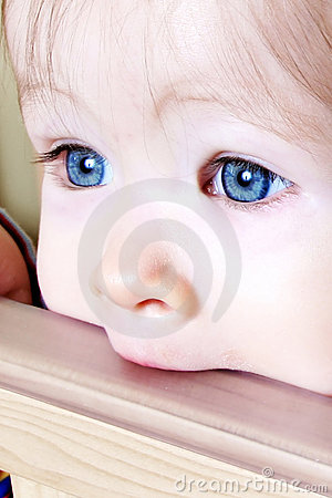 Free Baby Biting On Crib - Closeup Royalty Free Stock Image - 1925176