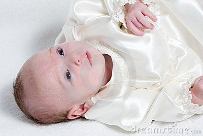 Baby on a blanket