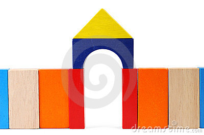 Baby blocks figure - Gate