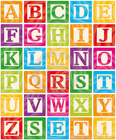 Free Baby Blocks Set 1 Of 3 - Capital Letters Alphabet Stock Photo - 20931270