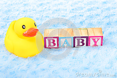 Baby blocks spelling baby