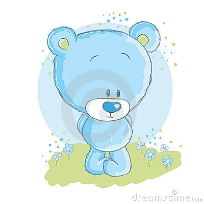 Free Baby Blue Bear Stock Photos - 16095653