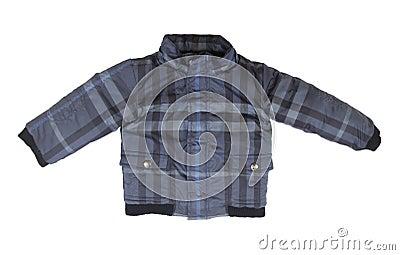 Baby blue checkered jacket