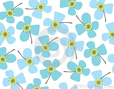 Baby blue daisies