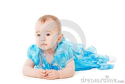 Baby in blue dress