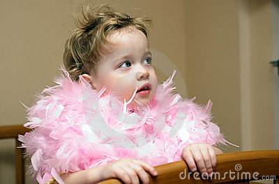 Baby in a boa