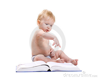 Baby and a book