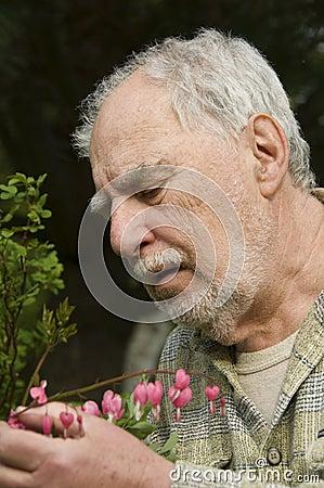Baby boomer gardener close-up