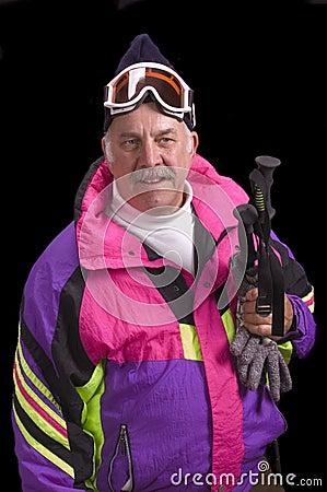 Baby boomer skier