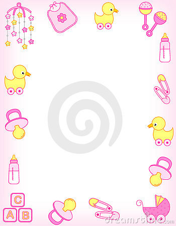 Free Baby Border Stock Photography - 14556642