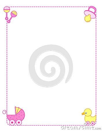 Free Baby Border Girl Royalty Free Stock Photography - 14556667