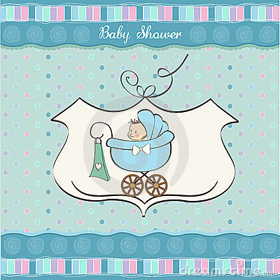 Free Baby Boy Announcement Card Royalty Free Stock Photos - 23756008