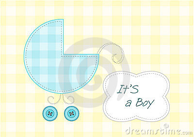 Baby boy arrival announcement